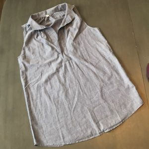 J. Crew sleeveless tunic.